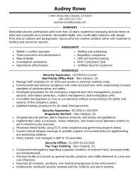 Sample Security Officer Resume Security Resume Examples Security Supervisor Resume Sample Armed