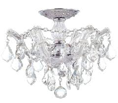 ceiling mount crystal chandelier cool ceiling crystal chandelier and appealing lights inside flush mount light idea
