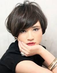 黒髪暗髪耳かけショート髪型ke 129 ヘアカタログ髪型ヘア