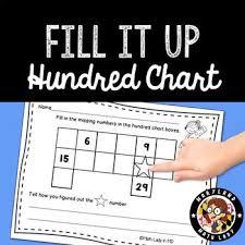 Hundred Chart Fill It Up Hundreds Chart Chart Math