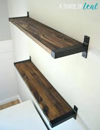 butcher block shelves floating outstanding walnut wall on kitchen butche
