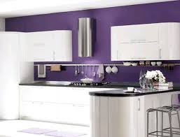 White Kitchen with Purple Walls