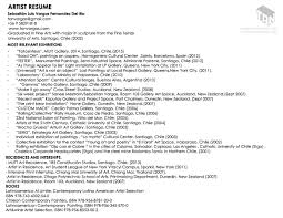 100 Example Artist Resume 100 Free Downloadable Artist