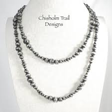 Navajo bead designs Tile Navajo Pearl Sterling Silver Bead Necklace With Corrugated Beads 50 Inch Length Picclick Navajo Pearl Sterling Bead Necklace Corrugated Beads 50 Inch Length