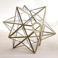 vintage glass star shape lamp shades