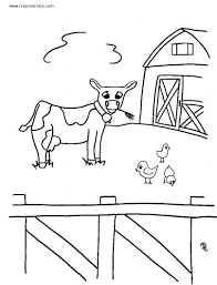 Cute Farm Animals Coloring Page For