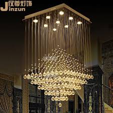 square crystal chandelier modern minimalist bedroom villa duplex staircase lights restaurant chandelier lamp living room lights creative light ceiling