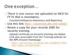Nko Certificate Nps Training Officer This Presentation Will Show You Where To