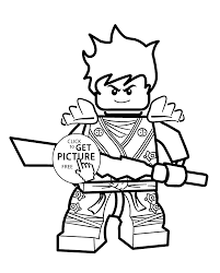 Kai Ninjago Coloring Pages For Kids Printable Free Lego Coloring