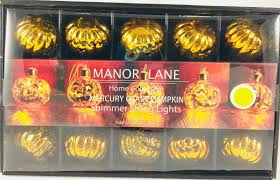 Manor Lane Outdoor Solar String Lights Manor Lane Pumpkin Mercury Glass String Lights Battery Operated