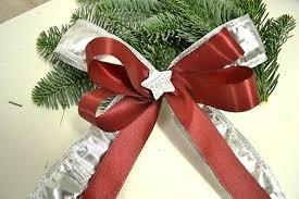 10 Stück Weihnachtsschleifen Christbaumschmuck Bordeaux Rot