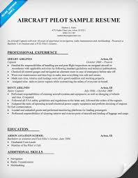 Sample Airline Pilot Resume Aircraft Pilot Resume httpresumecompanion Resume Samples 40