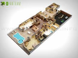 Casa De Vacaciones D Piso Plan De Diseño Toronto D - Studio apartment floor plans 3d