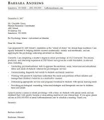 Psychology Cover Letter Sample Monster Com