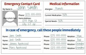 emergency contact template emergency contact card template 2 best professional templates