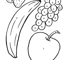 Fruits Coloring Pages For Preschoolers Free Fruit Coloring Pages For