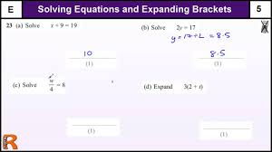 solving equations gcse maths foundation revision exam paper practice he