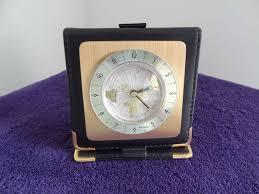 beautiful travel alarm clock bucherer swiss 1970s