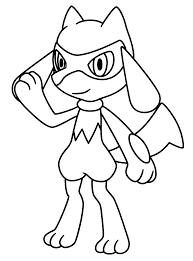 Free Pokemon Coloring Pages Lucario