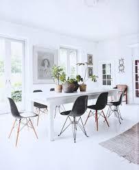 clean white dining e love a good eames chair dining set