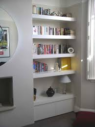 ... Wall Inserts With Shelves Large White Lacquered Built In Wooden Book  Shelf Perfect Wall Inserts With ...