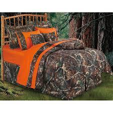 hunters camo bedding set oak twin