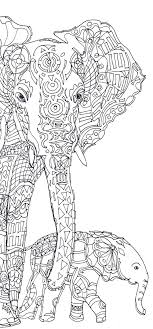 elephants coloring pages elephant clip art coloring pages printable coloring book hand drawn original colouring
