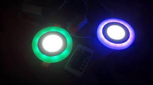 Đèn led âm trần đổi màu viền ,và ba màu viền phi 76+ 90 và phi 105mm .giao  buôn bán lẻ . - YouTube