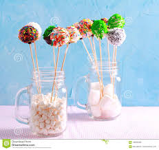 Colorful Cake Pops With Sprinkles Stock Photo Image Of Candy