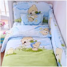baby crib bedding set 6 pcs 100 cotton crib per included sheets baby bedding set free in bedding sets from mother kids on aliexpress com