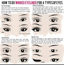 how to do a winged eyeliner on 4 diffe types of eyes makeup for downturned eyes