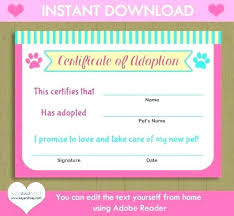 Pictures Of Blank Birth Certificates New Printable Free Birth Certificate Template Dog Show Word Templates