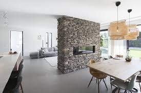 this stone partition provides a home