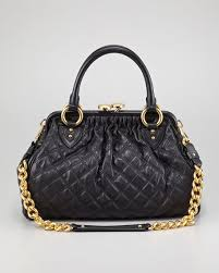 Marc Jacobs Stam Quilted Leather Satchel Bag, Black &  Adamdwight.com