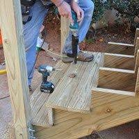 How to build a deck video Deck Bench u003cpu003elearn How To Build Deck Stairs Using 2x12 Stringers Watch Our Step By Step Diy Video Review The Code Requirements For Deck Stair Constructionu003cpu003e Pinterest Pu003elearn How To Build Deck Stairs Using 2x12 Stringers Watch Our