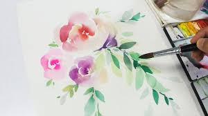 lvl2 watercolor flowers tutorial step by step you