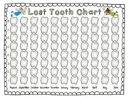 Lost Tooth Chart And Graph For The Whole School Year Tooth