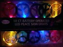 2 sets of ct led peace sign string lights battery operated in lighted marquee outdoor outdoor lighted peace sign