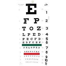 Amazon Com Snellen Eye Chart Health Personal Care