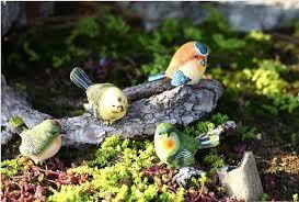 garden decorative birds cute home design animals artificial resin birds toy garden ornaments bird home accents