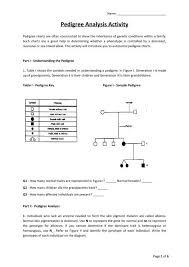 Pedigree Analysis Activity Pdf Wilsonsd Org