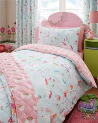 unicorns fairies rainbows bedroom range duvet cover sets and or curtains