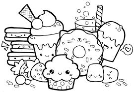 Coloring Page Kawaii Food Cute Foods Games Printable Pages Cordobas