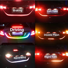 Car Turn Signal Lights Details About 4 Color Flow Type Led Strip Tailgate Turning Signal Lights Bar Trunk Strips Rgb