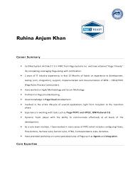 Summary Sample For Resume Pega Sample Resume