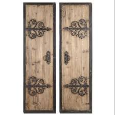 get quotations set of 2 old world rustic wood wrought iron door panel wall art  on rustic wood panel wall art with cheap 3 panel wall art set find 3 panel wall art set deals on line