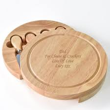 personalised end wooden cheeseboard set