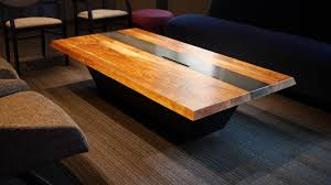 metal and wood furniture. Coffee Table, Salvaged Walnut And Steel. Seattle Cancer Research Institute. Metal Wood Furniture E