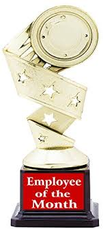 Employee Of The Month Trophy Employee Of The Month Trophy Award Gift By Aark India