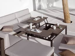 contemporary attractive and functional convertible coffee table montserrat within turns into dining